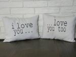 I Love You Pillow Set