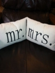 Mr. and Mrs. Pillow Set 12x16